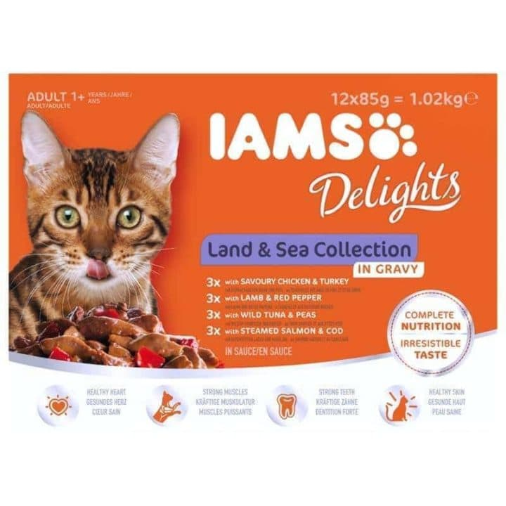 IAMS Delights Land and Sea Collection - In Gravy or Jelly