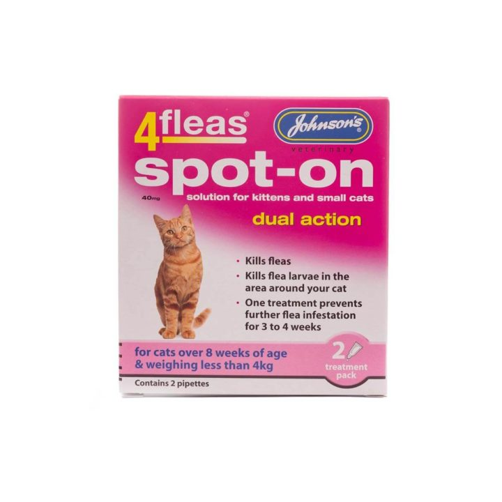 Johnsons 4Fleas Spot-on for Cats – 2 Varieties