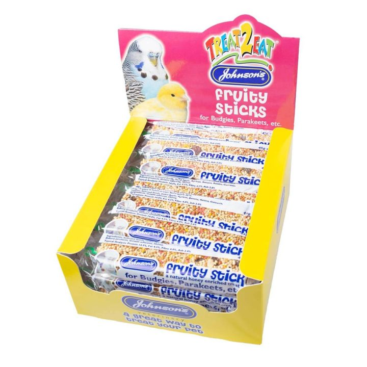 Johnsons Fruity Sticks for Budgies & Parakeets