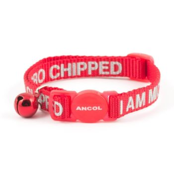 Ancol I Am Microchipped Cat Collar with Safety Buckle