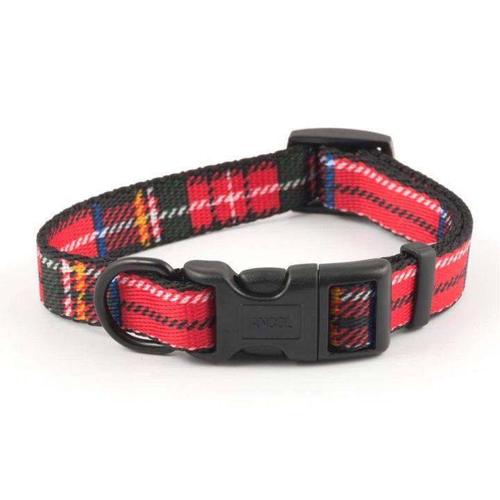 Ancol Tartan Adjustable Red Dog Collar