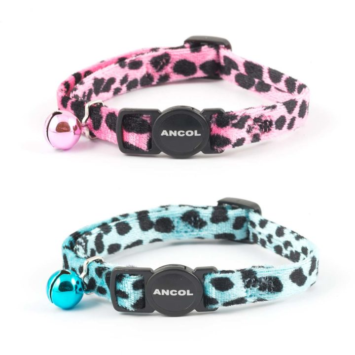 Ancol Safety Cat Collar - Velvet Leopard Print