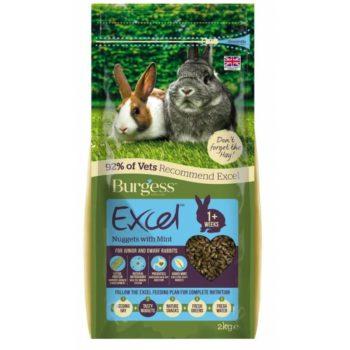 Burgess Excel Junior & Dwarf Rabbit Nuggets with Mint