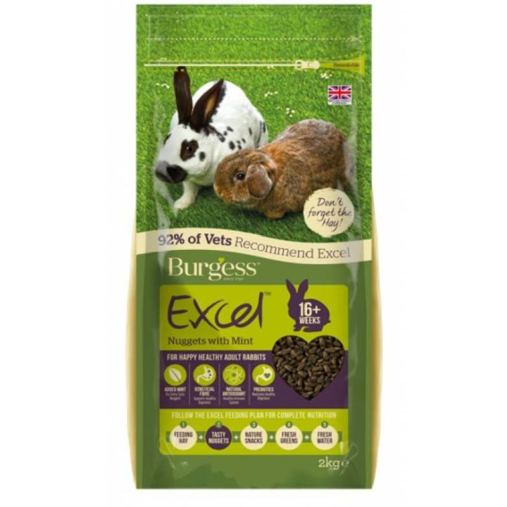 Burgess Excel Adult Rabbit Nuggets with Mint