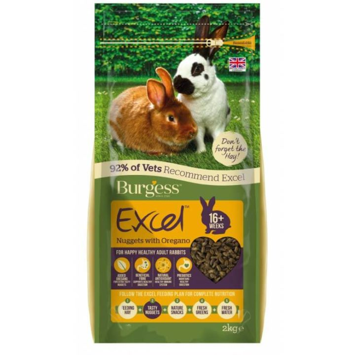 Burgess Excel Adult Rabbit Nuggets with Oregano