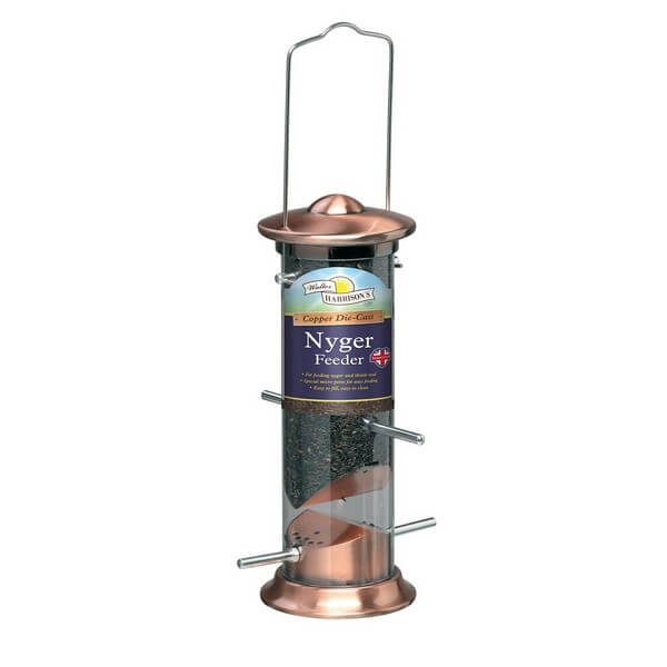 Harrisons Cast Copper Plated Nyger Feeder
