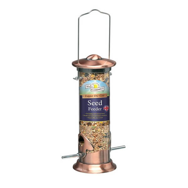 Harrisons Cast Copper Plated Seed Feeder - 3 Sizes