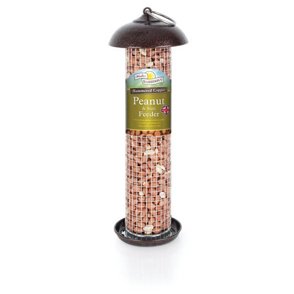 Harrisons Hammertone Copper Peanut & Suet Feeder - 2 Sizes