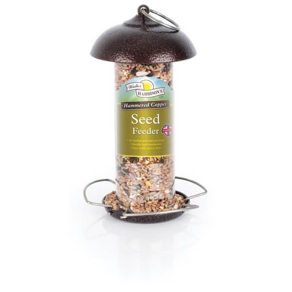 Harrisons Hammertone Copper Seed Feeder - 2 Sizes