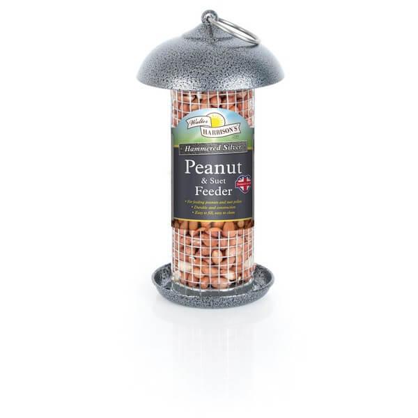 Harrisons Hammertone Silver Peanut & Suet Feeder - 2 Sizes