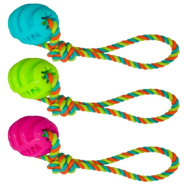 James & Steel TPR Ball on Cotton Rope