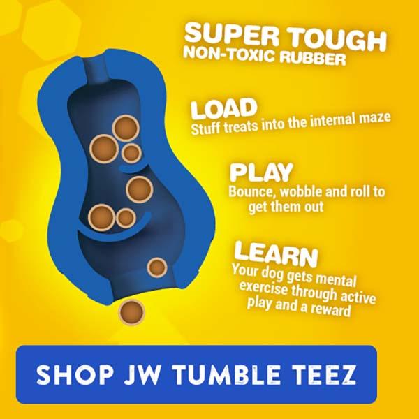 JW Tumble Teez Treat Toy - 3 Sizes