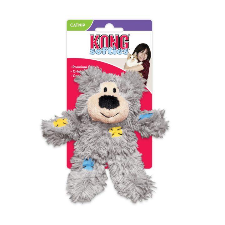 KONG® Cat Softies Patchwork Bear