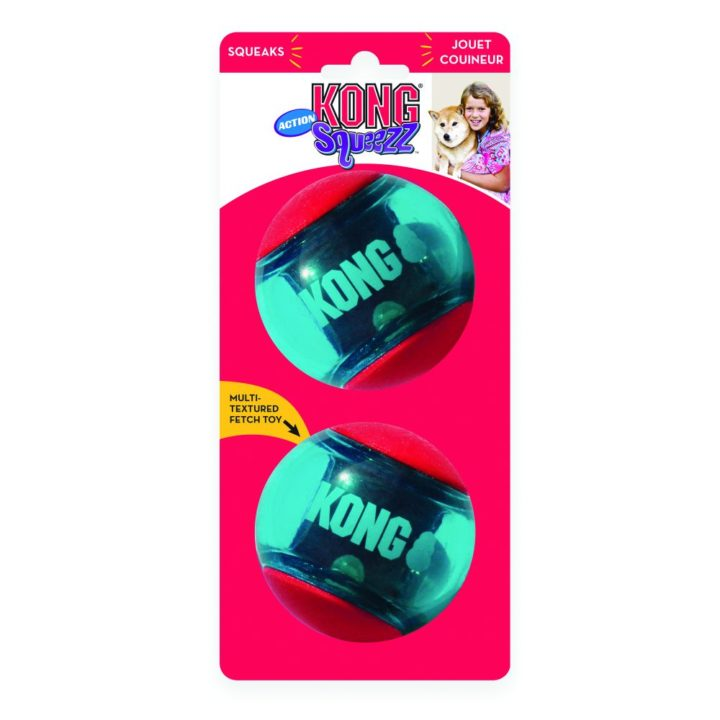 KONG® Squeezz® Action Ball Red - 3 Sizes