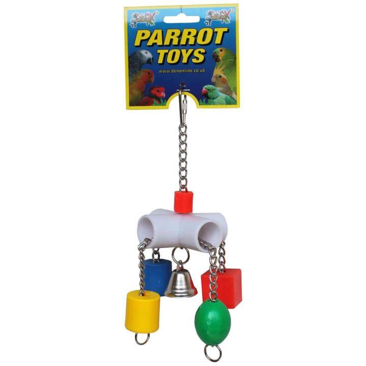 Lazy Bones Slider Parrot Toy