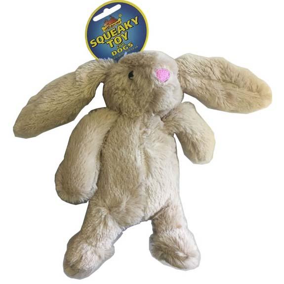Lazy Bones Plush Squeaky Toys - Rabbit/Duck/Dog