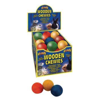 Lazy Bones Wooden Chewies - Ball