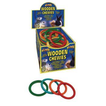 Lazy Bones Wooden Chewies - XL Ring