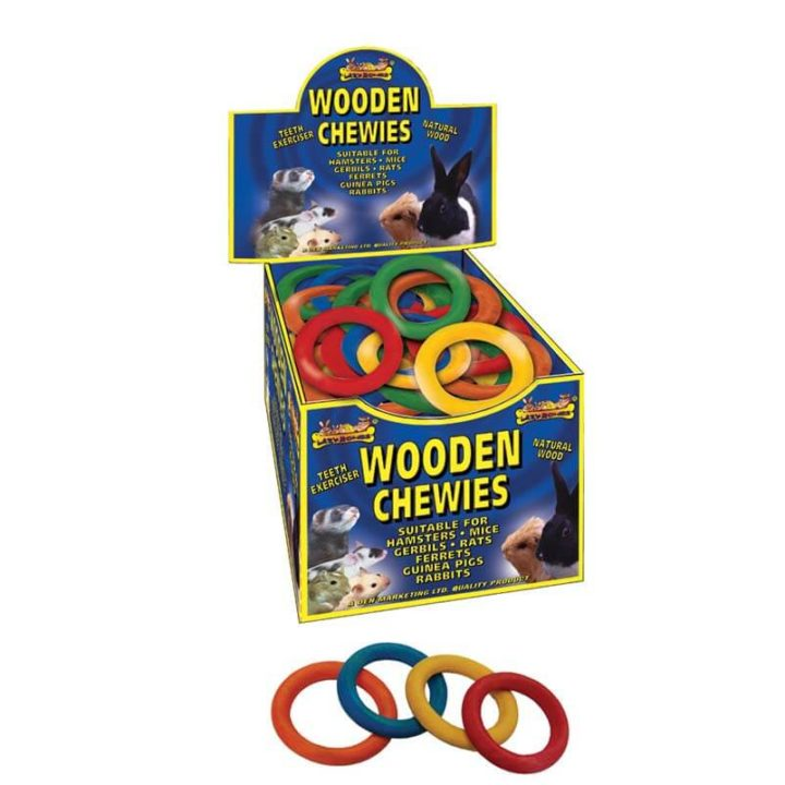 Lazy Bones Wooden Chewies - Ring
