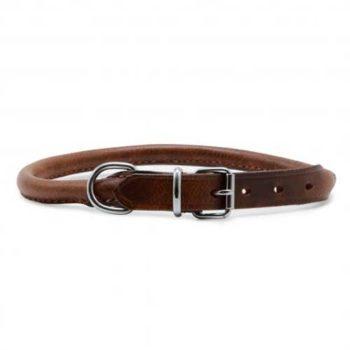 Ancol Round Leather Chestnut Collar
