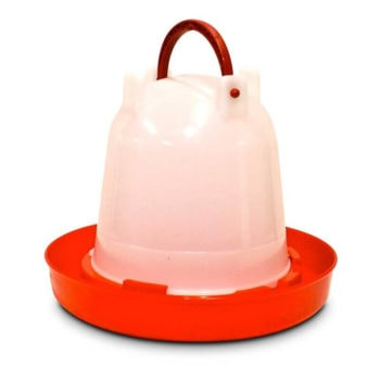 Supa Red & White Poultry Drinker - 2 Sizes