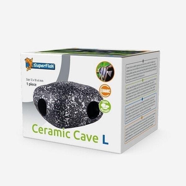 SuperFish Ceramic Cave Aquarium Ornament - 5 Sizes