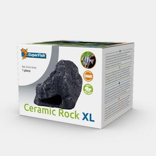 SuperFish Ceramic Rock Aquarium Ornament - 5 Sizes