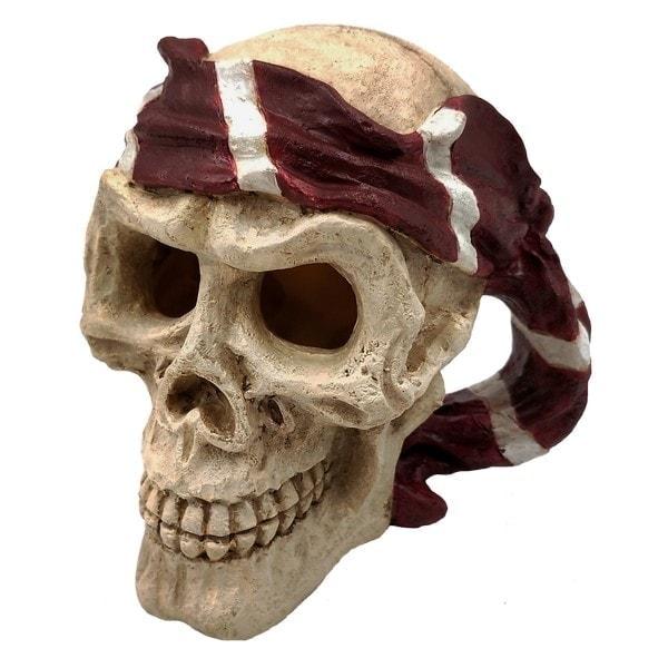 SuperFish Skull Pirate Aquarium Ornament